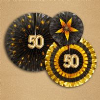Glitz & Glamour Black & Gold Pinwheels 50th (3)